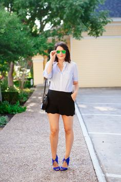 Adorable summer look from Kendi Everyday.  And those shoes!