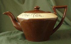 Torquay Motto Ware Teapot - Red & Cream
