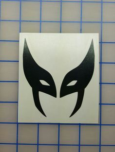 Marvel X-Men Wolverine Mask Decal  16 colors  by RidinNerdy