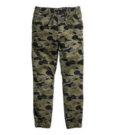H&M camo twill pants