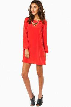 Middleway Shift Dress in Poppy Red