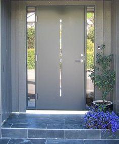 egedør Entrance Hallway, House Interior, House Front Door, Front Door Design, House Front, Contemporary Front Doors, House Front Door Design, Entrance, Door Frame