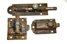 Antique Cabinet Latch. Cast Iron Cabinet Latch. Antique Slide Lock. Restoration Hardware. Antique Door Latch. Cupboard Latch Victorian Latch