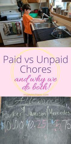 paid vs unpaid chores