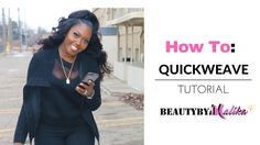 HOW TO : QUICK WEAVE HALF UP PONYTAIL   BEAUTYBYMALIKA