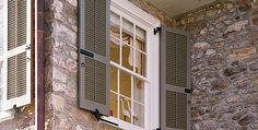 DOUBLE LOUVERS AND HARDWARE   How to choose a shutter color.