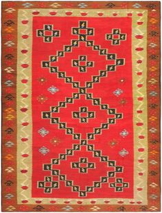 Antique Romanian Bessarabian Kilim 46918 Nazmiyal - By Nazmiyal Rugs On Carpet, Carpets, The Uncanny, Textiles, Saturated Color, Persian Carpet, Textile Art, Romania, Oriental Rug