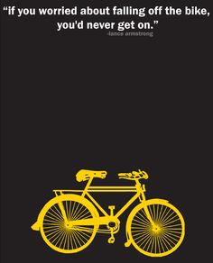 Lance Armstrong Inspirational Cycling Quote Print by pedalprints