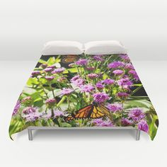 Monarch Butterfly Couple Duvet Cover by Photography By MsJudi - $99.00
