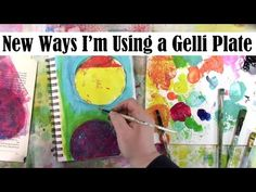 New Ways I Am Using a Round Gelli Plate - YouTube