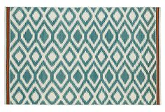 One Kings Lane - The Layered Look - Livvy Flat-Weave Rug, Turquoise