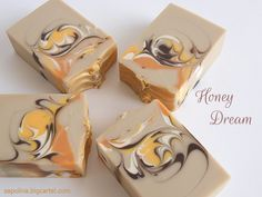 Honey Dream - Oatmeal, milk & honey cp soap #cp_soap #sapolina_soap #handmade