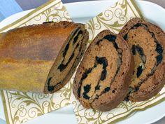 Recept na perníkový štrúdl s ořechy a švestkami