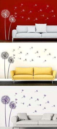 Wandtattoos - Deko Blumen-Schmetterling-Ornament 3 Wandaufkleber - wandtattoo braune wand