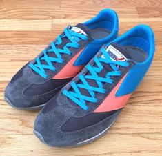 Brooks Womens 8 Vanguard Heritage Shoes Classic Retro Running Sneaker Gray Blue #Brooks #LowTop