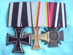 RARE WW1 GERMAN MEDAL BAR IRON CROSS MECKLENBERG SCHWERIN WAR MERIT CROSS