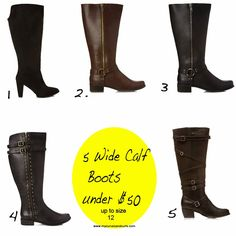 5 wide calf boots all under under $50