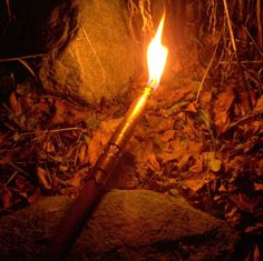 Add a torch to the top of a Hiking Staff to illuminate your way. The VIDEO shows…