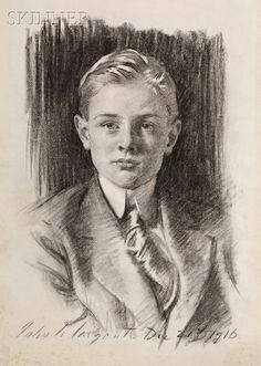 John Singer Sargent, Portrait of Henry L. Higginson II (age 16), 1916