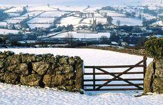 South Devon in England in the snow South Devon, Devon England, Dartmoor, Winter Beauty, English Countryside, British Isles, Winter Scenes, Natural Wonders, Great Britain