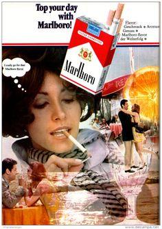 Original-Werbung/ Anzeige 1969 - MARLBORO CIGARETTEN - ca. 180 x 240 mm