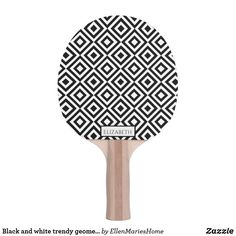 Shop Black and white trendy geometric pattern name Ping-Pong paddle created by EllenMariesHome. Ping Pong Paddles, Indoor Activities, Pattern Names, Modern Contemporary, Black And White, Color, Black N White, Black White, Colour