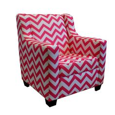 Contemporary Modern Pink Microfiber Cover Convertible Kid