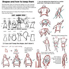"""""""The next feature tutorial for today is this great set of notes on CHARACTER SHAPE DESIGN by the insanely brilliant So many wonderful thoughts to try out here! Male Character, Character Design Sketches, Character Poses, Character Design Animation, Character Design References, Character Drawing, Character Design Inspiration, Character Design Tutorial, Drawing Techniques"""