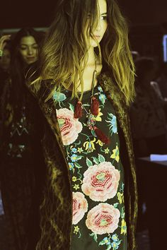 Floral look for winter