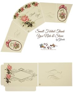 >     CLICK HERE  to download my Thank You card set                                   *** The Ros e*** The Basket...