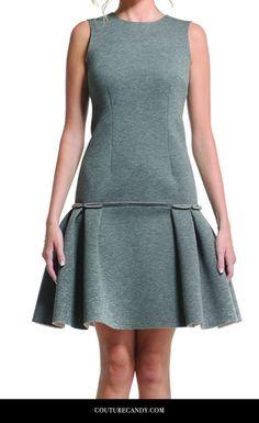 Daniela Corte - Audrey Dress Grey / Size 38 | www.couturecandy.com