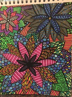 ColorIt Colorful Flowers Volume 1 Colorist: Wendy Brown #adultcoloring #coloringforadults #adultcoloringpages #flowers
