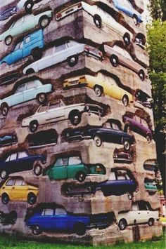Sometimes I question peoples choices...what made this idea come to mind? Let's make something out #concrete and #cars!