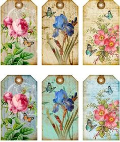 12-HANG-GIFT-TAGS-COTTAGE-CHIC-FLORAL-IMAGES-793-A