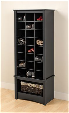 Tall Shoe-Storage Cubby Cabinet