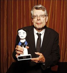 Stephen King holds his Edgar Award for Best Novel for 'Mr. Mercedes' at the 2015 Edgar Awards in New York. EDGAR AWARDS ...