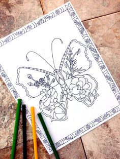 Butterfly coloring pages flower coloring page by colorblinddragon