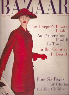 Evelyn Tripp on the cover of Harper's Bazaar, 1955.