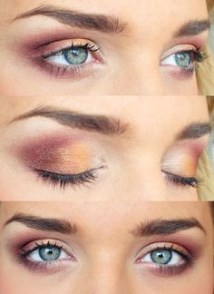 Love this. I've always liked that dark red but wasn't sure how it would look with blue eyes