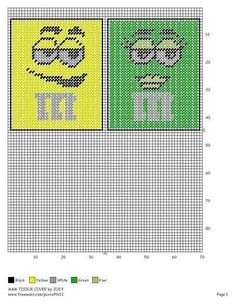 Green and yellow m&m tbc