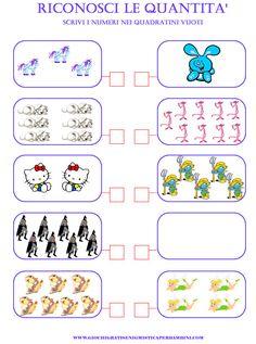 matematica_scuola_elementare_riconoscere_quantita giochi enigmistici per bambini esercizi inglese