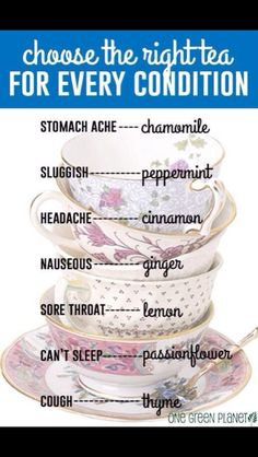 Here's a quick guide to help you decide what tea is right for how you feel right now. #tea #wellness