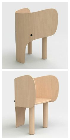 The cutest kid's chair ever! kids design Elephant Chair & Table by Marc Venot