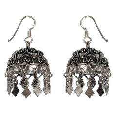 Amazon.com: Handcrafted Sterling Silver girls Dangle Earrings Size: 1.75 inches: ShalinCraft: Jewelry