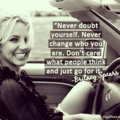 Britney Spears .... good to see someone who takes their own advice ❤️