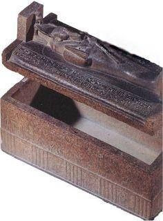 Red granite sarcophagus of Merenptah reused for Psusennes I. The Egyptian Museum: Floor 1 Hall 0