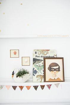 habitacion infantil romantica estanterias cool