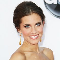 Allison Williams - 2012 - Allison Williams - Transformation - Hair - InStyle :: up do :: drop earrings
