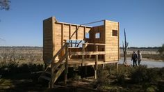 Bird hide built by Pallettable Recycled Furniture Design at Coomelberrup Lake Dumbleyung Western Australia