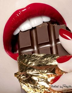 Two things that we can't live without! Chocolate and red lips 💋♥️💄💋♥️💄💋 Love Chocolate, Chocolate Lovers, Chocolate Treats, Orange Lips, Perfect Red Lips, Nice Lips, Candy Lips, Kissable Lips, Plump Lips